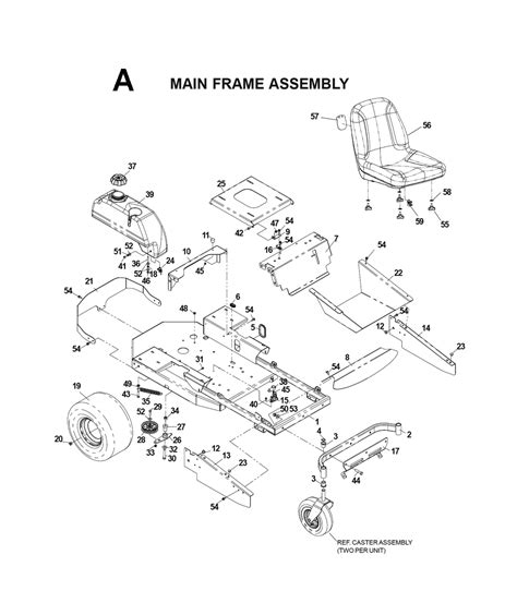 zero turn mower parts diagram buy husqvarna cz4817 i0203025 replacement tool parts