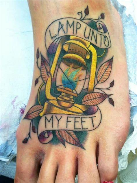 a l unto my feet your word is a l unto my feet tattoo tattoo