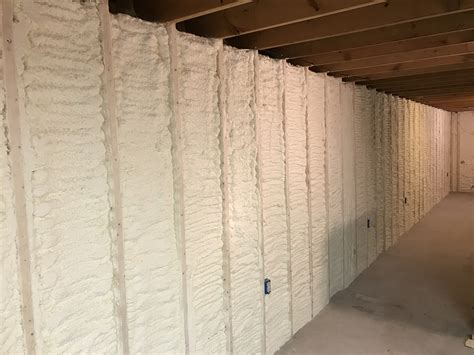 basement spray foam basement wall spray foam insulation in point wi