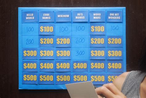 make a house game how to make a jeopardy game 6 steps with pictures