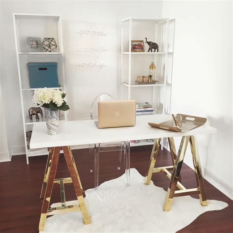 white and gold office desk white and gold offices an and inspirational workspace
