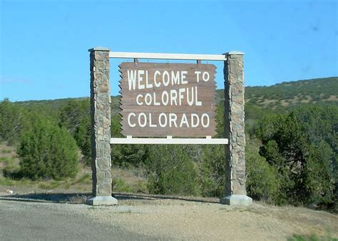 colorful colorado welcome to colorful colorado state welcome signs