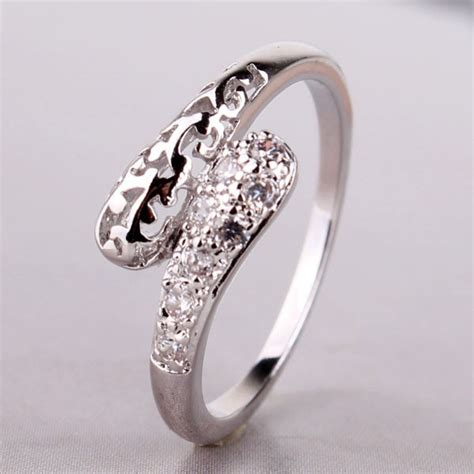 best selling engagement wedding band rings set silver