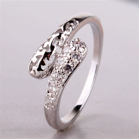 Best Selling Engagement & Wedding Band Rings Set Silver