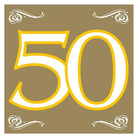imagenes de cumpleaños numero 50 pack 20 servilletas n 250 mero 50