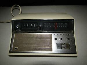 vintage panasonic rc 7148 am fm flip alarm clock radio back to the future works ebay