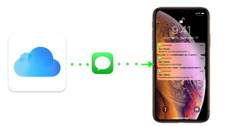 how to restore messages imessages from icloud to iphone xs xr