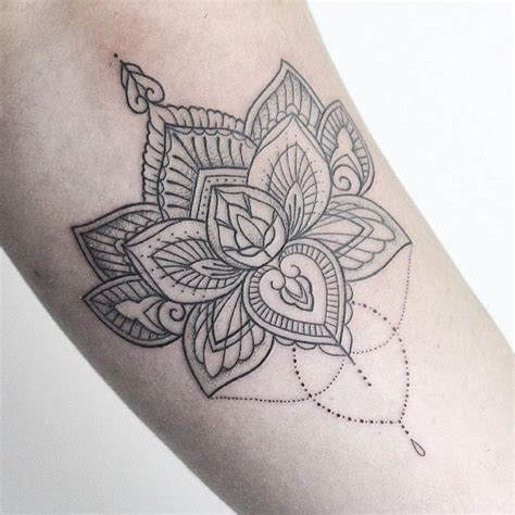 henna inspired tattoo tumblr tattoos henna inspired lotus flower artist