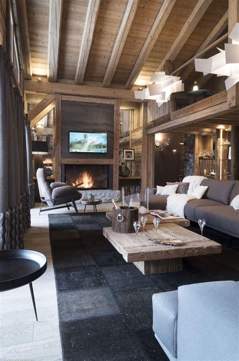 chalet cheminee montagne luxueux chalet en bois feu de chemin 233 e avec
