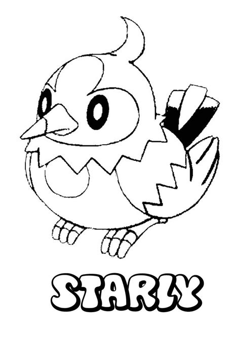 normal pokemon coloring pages normal pokemon coloring pages starly