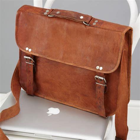 leather laptop bag vintage style leather laptop bag by vida vida notonthehighstreet