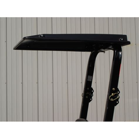30382 Black Top hardtop abs plastic canopy for kubota tractors and mowers black