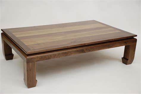 custom made coffee tables custom ming walnut coffee table by belak woodworking llc