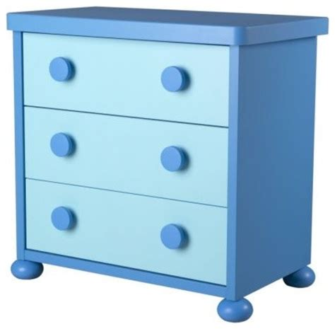 Blue Childrens Dresser by Mammut 3 Drawer Chest Blue Scandinavian Dressers And Armoires By Ikea