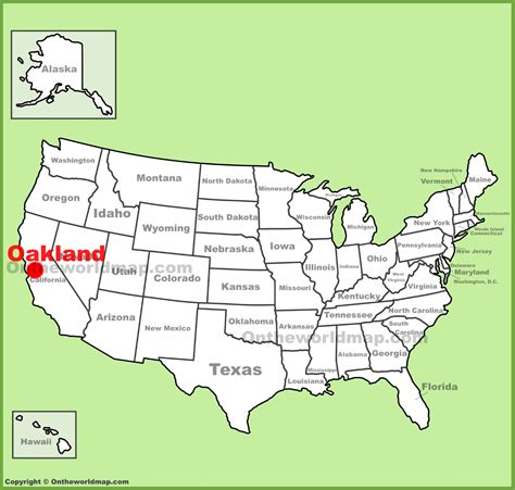 oakland usa map oakland location on the u s map
