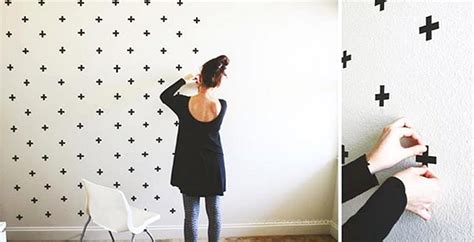 Wallpaper Dinding Buatan Sendiri | ide dan cara membuat hiasan dinding kamar buatan sendiri