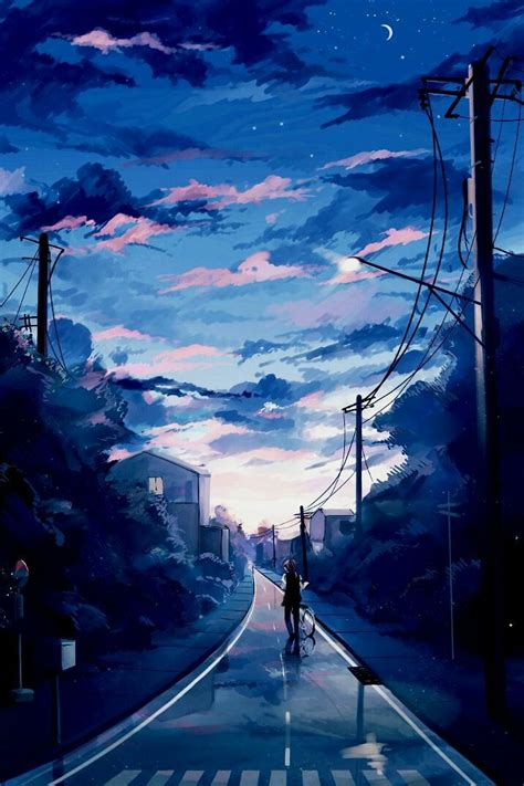 anime wallpaper beautiful morning sky phone