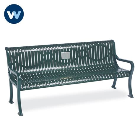 wabash valley benches specialty series memorial 6 courtyard bench with plaque