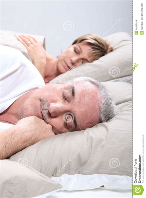 granny bed couple in bed sleeping royalty free stock photos image 24022928