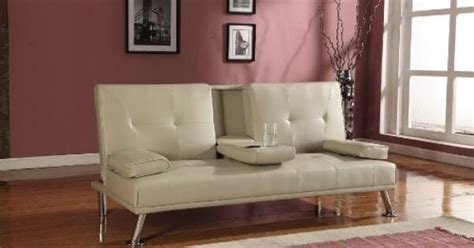 cinema style sofas cinema style futon sofabed with drinks table sofa bed faux