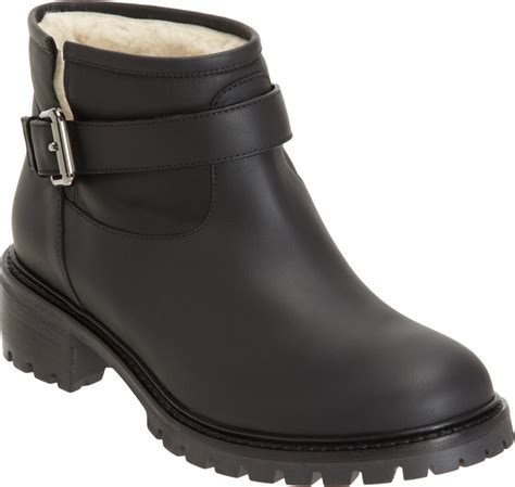 fendi shearling lined ankle boot in black lyst