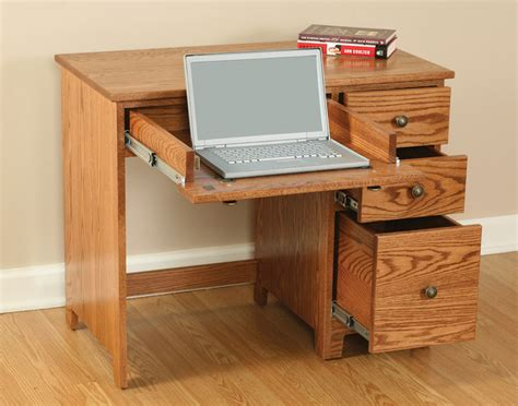 economy 3 drawer laptop computer desk ohio hardwood