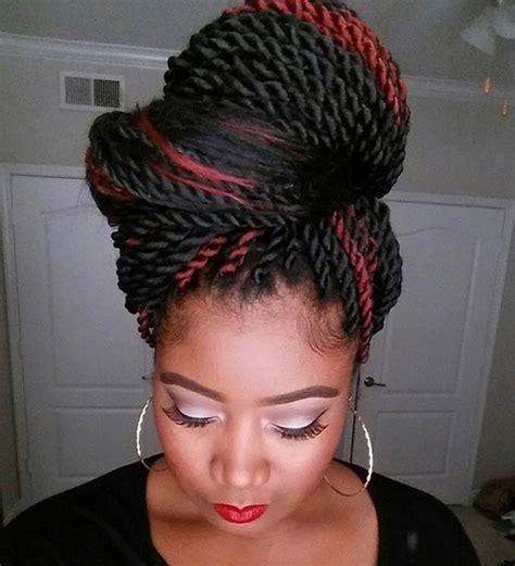 kinky twist buns hairstyle 19 fabulous kinky twists hairstyles stayglam
