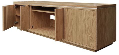 Av Cabinets With Doors Custom Made To Measure Oak Av Cabinet With Retractable Doors