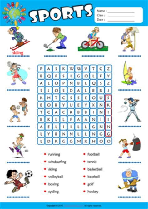 28 Twenty Sports Esl Worksheets Of The Day