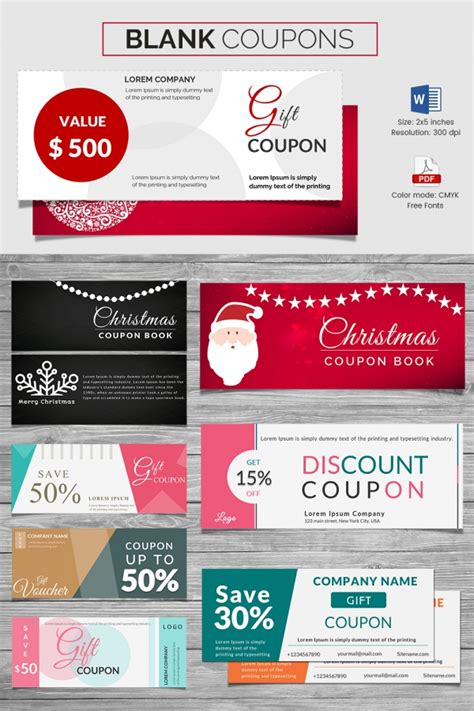 coupon template powerpoint coupon voucher design template 26 free word jpg psd