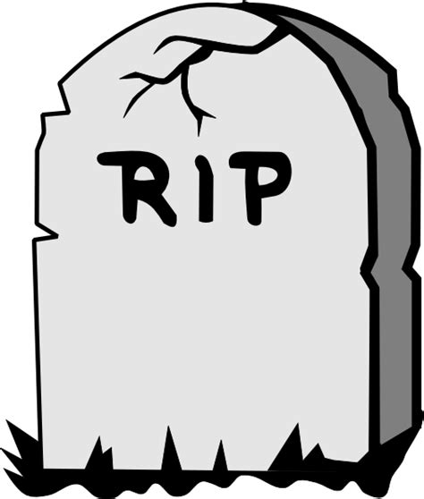 Rip Gravestone Clipart rip gravestone clip at clker vector clip