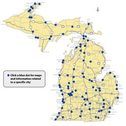 Map Of Michigan Cities And Towns by Towns And Cities In Michigan Pictures To Pin On Pinterest
