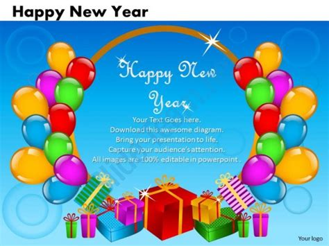 Business Powerpoint Templates Cards And Dices Happy New Happy New Year Powerpoint Presentation