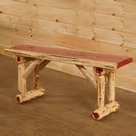 wildwood rustics red cedar half log bench rustic log benches cedar benches aspen bench
