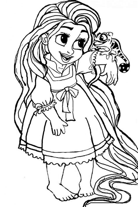 baby rapunzel coloring pages coloring pages