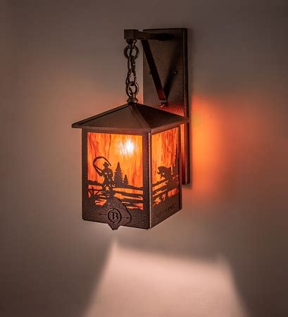 Fisherman Wall Sconce by 8 Quot Square Fly Fisherman Personalized Hanging Wall Sconce