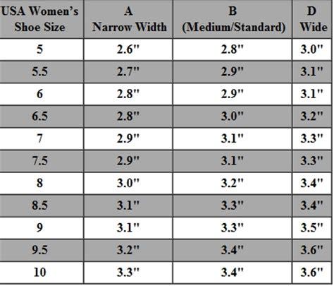s shoe size chart shoe width chart usa women s
