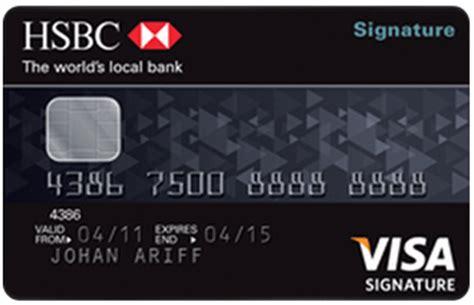 hsbc bank credit card hsbc bank visa signature credit card malaysia credit