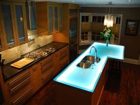 Glass Kitchen Island by Glass Countertop Kitchen Island Innovative Design