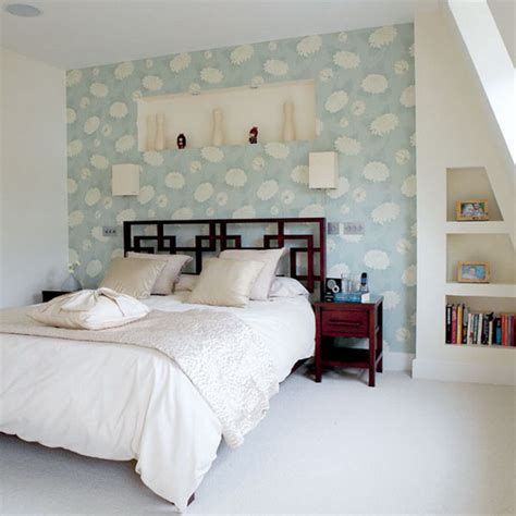 bedroom wallpapers focusing on one wall in bedroom swedish idea of using