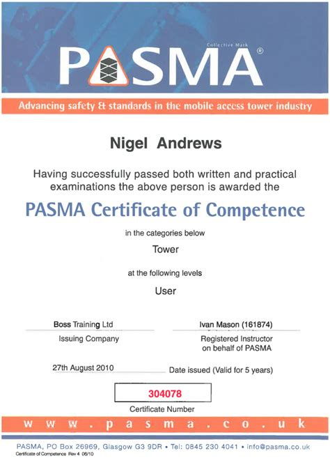 certificate of competency template certifications hfbheating