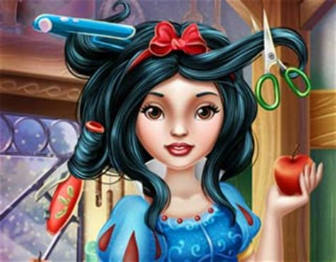 real haircut games belle play free snow white real haircuts