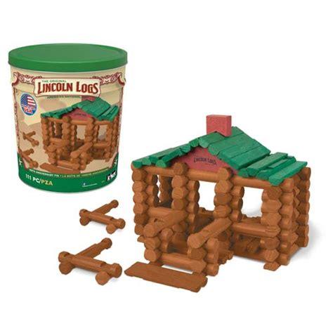Log Cabin Home Designs Lincoln Logs 100th Anniversary Tin Knex Lincoln Logs