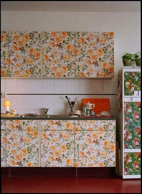 wallpaper on kitchen cabinets 25 best ideas about wallpaper cabinets on pinterest diy