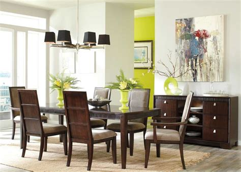 formal contemporary dining room sets with brown finish