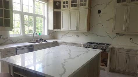 White Quartz Kitchen Countertops by Calacatta White Quartz Countertops