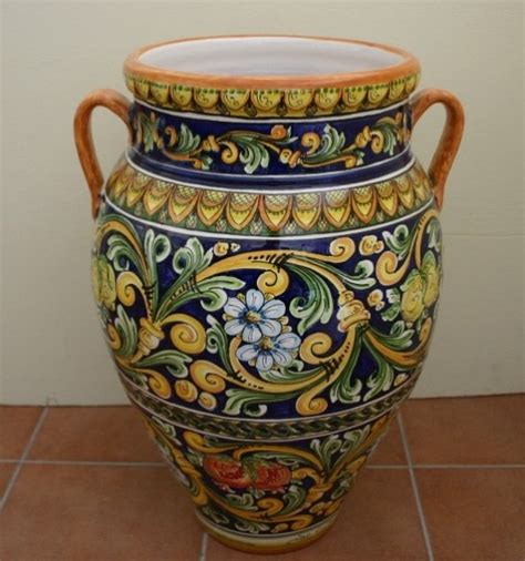 vasi di caltagirone oggetti d arredo vasi siad ceramiche di caltagirone