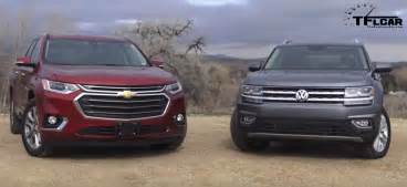 2018 chevrolet traverse vs volkswagen atlas which family
