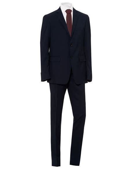 etro mens fully lined micro stripe print regular fit navy