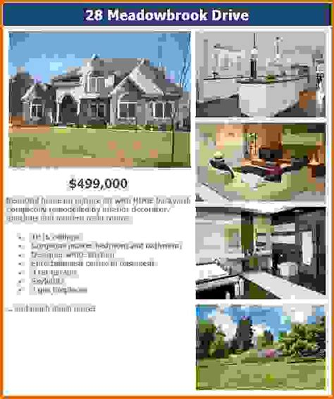 real estate brochure templates free real estate flyer templates freereference letters words